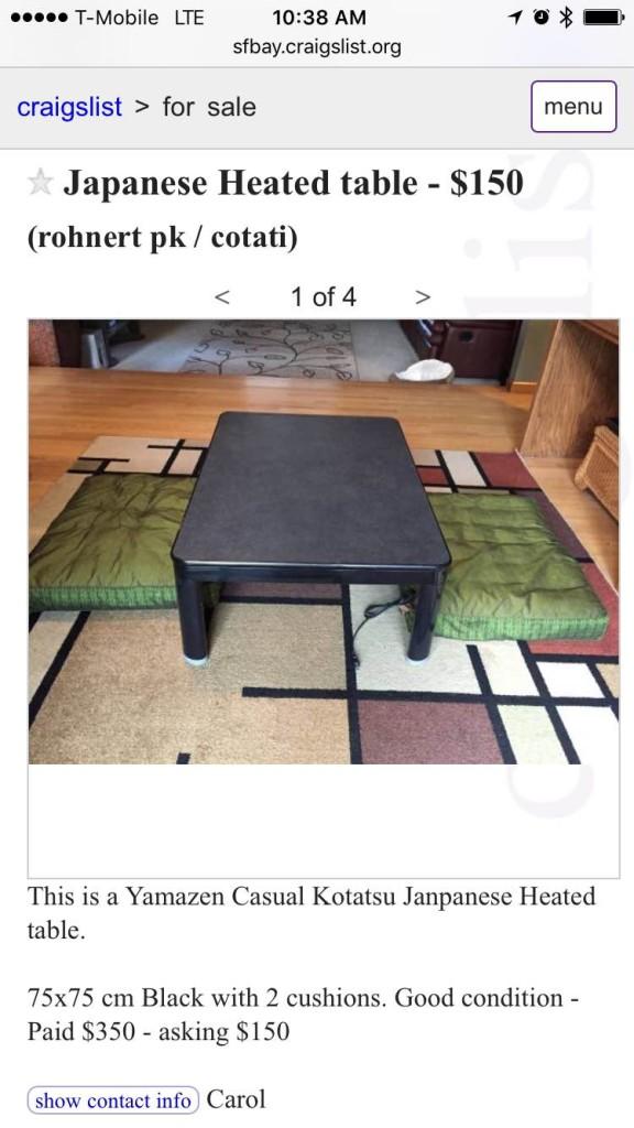 kotatsu list
