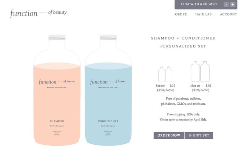 【体験レポ】3億種類!カスタムシャンプー&コンディショナーの「Function Of Beauty」をオーダーしてみた [ShoppingTribe寄稿記事]