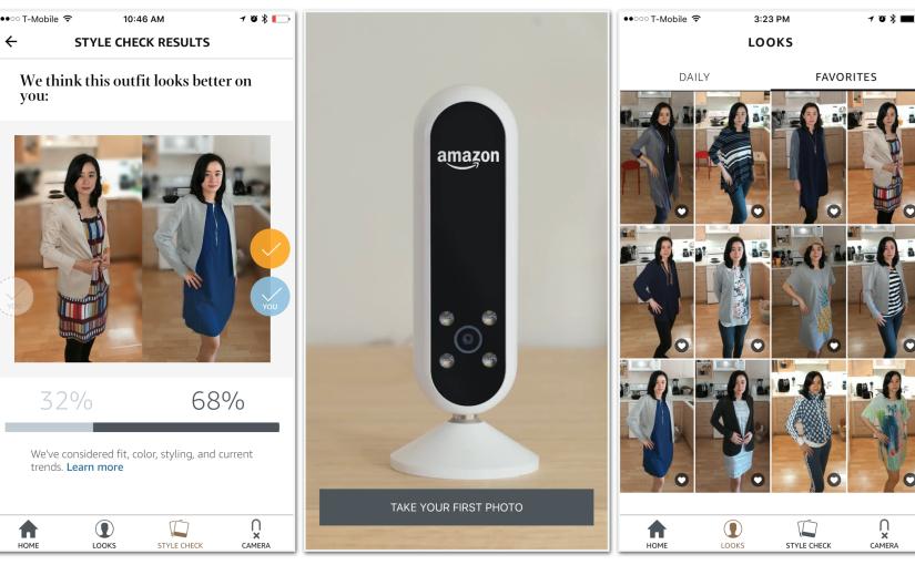 「どちらが似合う?」服を提案、アマゾンのAIカメラ