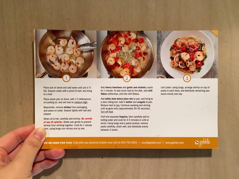 10分でできるレシピ付き食材宅配 Gobble 試してみた。本当に10分で出来るのか!
